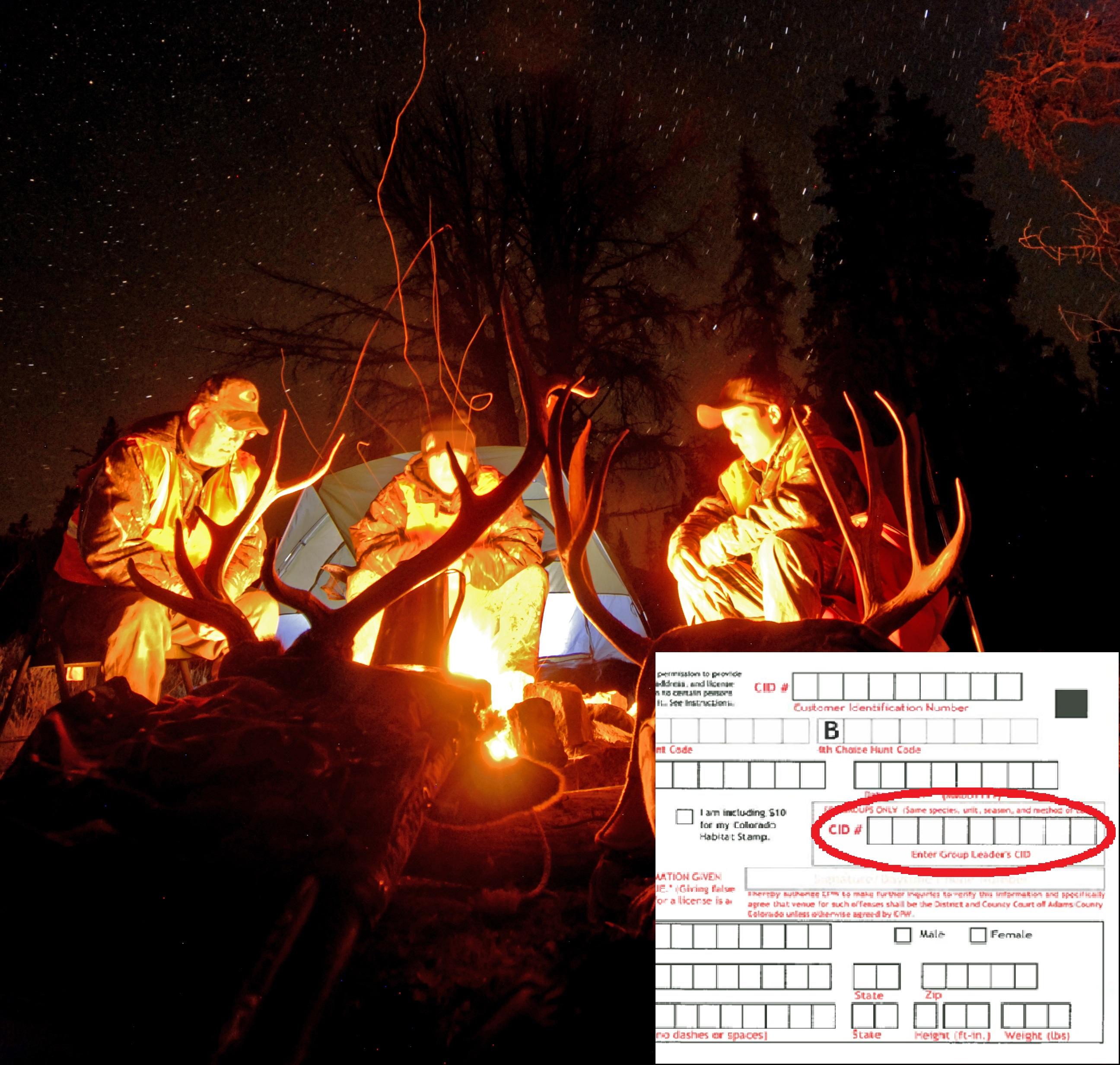v79 hunting camp under stars